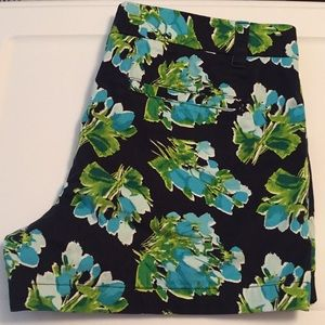 Merona Shorts - Merona 100% Cotton Navy Blue floral shorts size 10